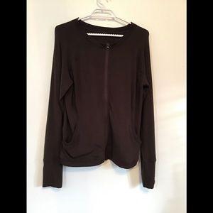 Lululemon Super Soft Brown Zippered Jacket